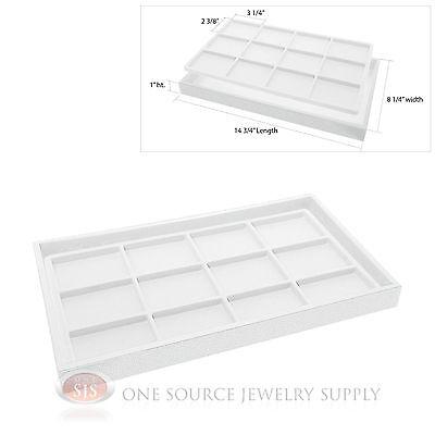 White Plastic Display Tray 12 White Compartment Liner Insert Organizer Storage