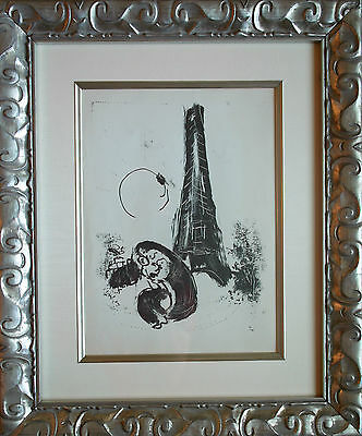 Marc Chagall - Mother and Child at Eifel Tower (M.94) 1954 - Original Lithograph