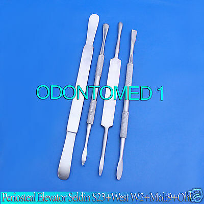 2 Set Of 4 Periosteal Elevator Seldin S23west W2molt M9ohl