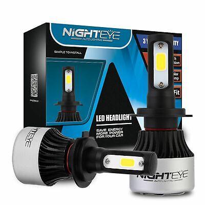 2h Licht (Nighteye 72W H7 LED Scheinwerfer AUTO Headlight Birne Lampen Lichter Weiß 6500K)