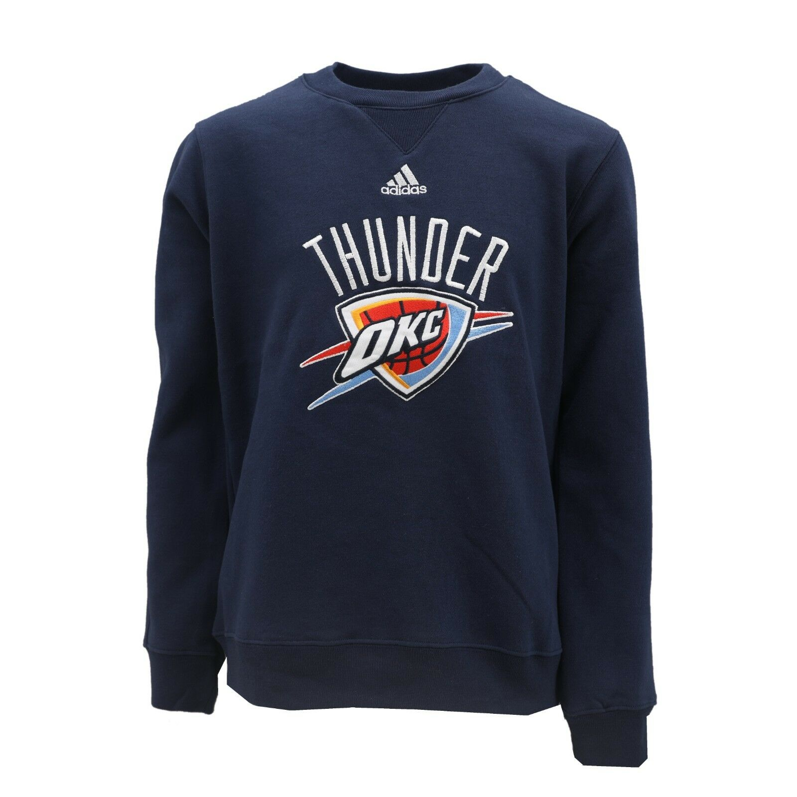 7b38bcc95 Details about Oklahoma City Thunder Official NBA Adidas Kids Youth Size  Sweatshirt New Tags