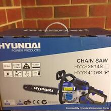 """NEW IN BOX - HYUNDAI HYYS4116S 16"""" 41CC Chainsaw Redcliffe Belmont Area Preview"""