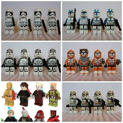 Star Wars Han Solo Luke Jedi Storm Clone Trooper lego Mini Figures Darth Vader