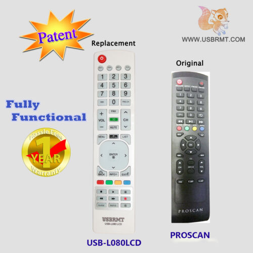 New Usb Universal Remote For Model 01 For Proscan Tv - Already Programmed