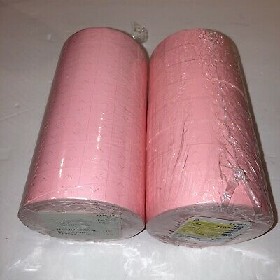 28000 Pink Labels For 1136 Monarch Price Gun 16 Rolls Great For Store Shop
