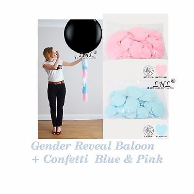 Gender Reveal Balloon Hearts Confetti Pink+Blue DIY Kit Baby Sex Reveal Party (Diy Gender Reveal)