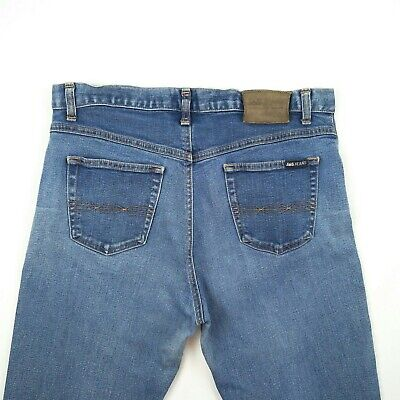 JAG - Vintage High Rise Straight Faded Blue Stretch Denim Jeans Women's Size 12