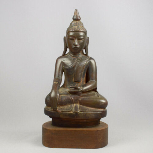 ANTIQUE BRONZE BUDDHA - BURMA - AVA STYLE - 19th CENTURY