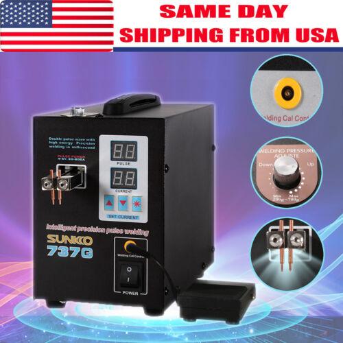 737G Pulse Spot Welder Welding Soldering Machine 18650 Battery Packs 110V 1.5KW