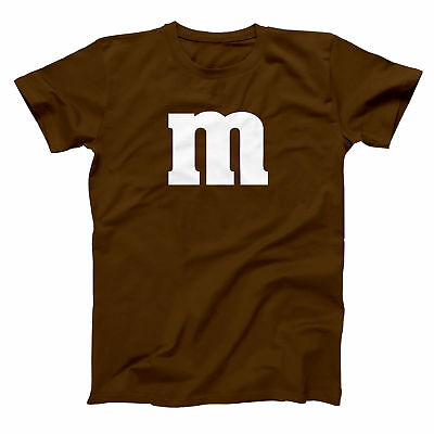M & Candy Costume Set Funny  Humor  Halloween  Group Brown Basic Men's T-Shirt - Funny Group Halloween Costumes For Men