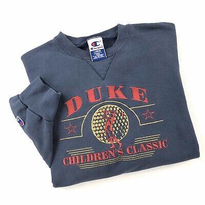 Vintage 90s Champion Crewneck Sweatshirt Large Duke Golf Tournament Embroidered