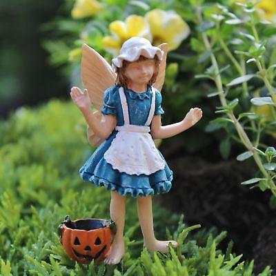 Miniature Dollhouse Fairy Garden Fairy Annie Ready For Halloween w/ Pumpkin