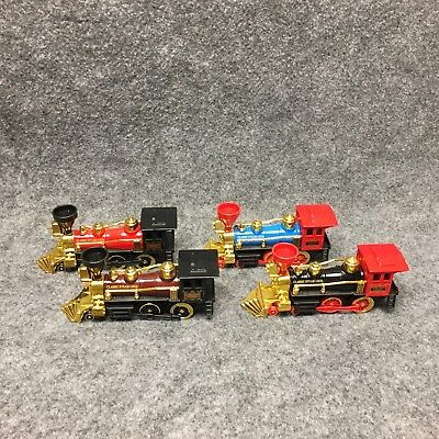 Classic Steam Loco Railroad Locomotive Pull Back Action Toy Diecast   Plastic 7