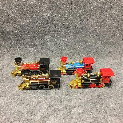Classic Steam Loco Railroad Locomotive Pull Back Action Toy Diecast   Plastic 7