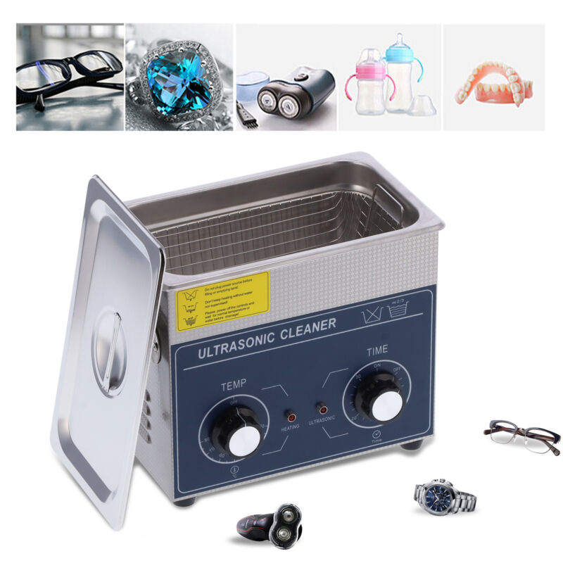 120W 6L Professional Digital Ultrasonic Cleaner Timer Heater Stainless Steel US
