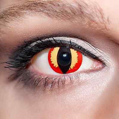 Rote Kontaktlinsen Drache farbige Katzenaugen Rot Fun Red Eyes Cat Contacts;K504