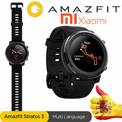 NUEVO SmartWatch Xiaomi HUAMI AMAZFIT Stratos 3 GPS GLOBAL Impermeable Android I
