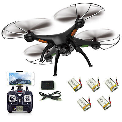 5 Batteries Syma X5SW-V3 RC Quadcopter Drone WIFI FPV 2.4Ghz 6Axis HD Camera