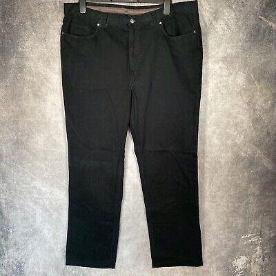 HILTL The Ultimate Trouser Black Chino Pants Trousers L36 W42 Large