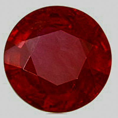Ruby Round  6.5mm Lab Created Loose Gemstones