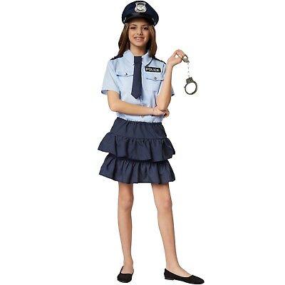 Mädchenkostüm Police Girl Polizistin Polizei Politesse Cop Karneval Fasching ()