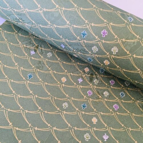 Basil #B By the YARD Bolt Japanese Kimono Fabric Panel Authentic TraditionalBP35