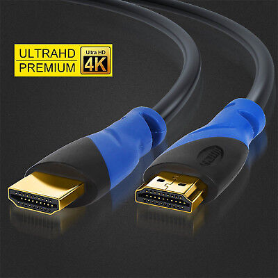 Top Quality HDMI Cable 2.0 3D 4K 18 Gbps In-wall Blu-Ray/DVD Player/ Xbox - 30FT