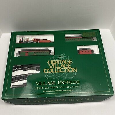 DEPT 56 Heritage Village Express Bachman Electric Train Set HO Scale 5980-3