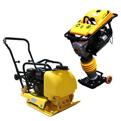 6.5hp Gas 196cc Water Tank Dirt Vibratory Compactor Tamper Jumping Jack Rammer