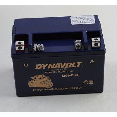 MG9-BS-C MGX9-BS DYNAVOLT NANO-GEL Motobike Motor Battery Replace YTX9-BS MBTX9U