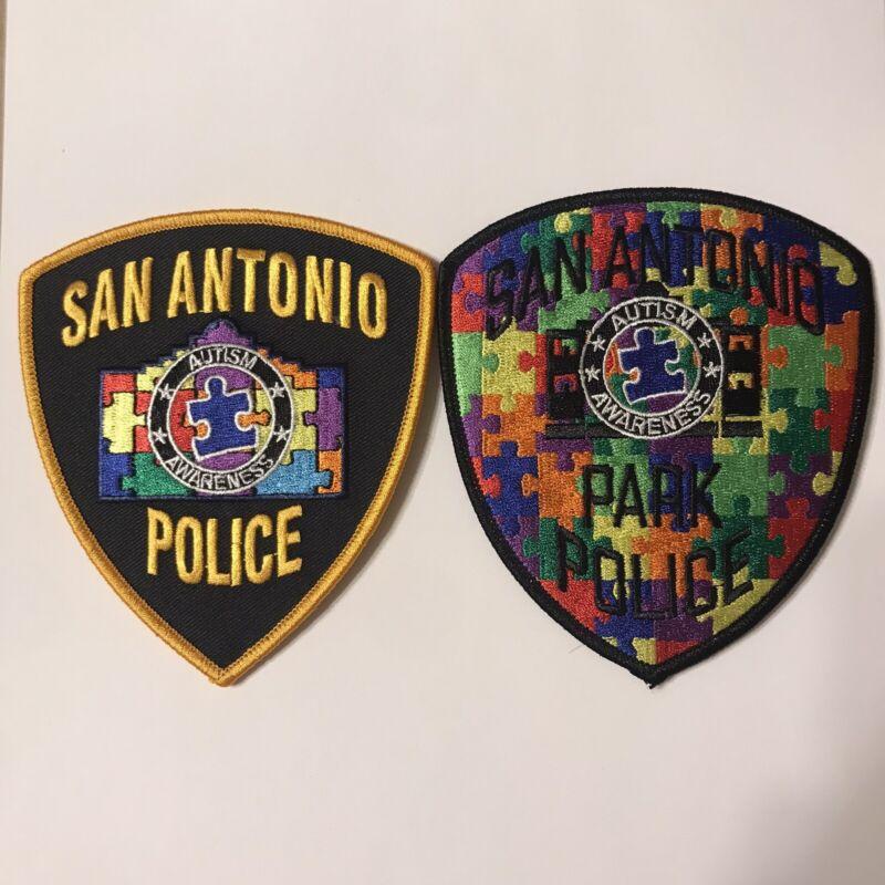 San Antonio Texas Police Dept & Park Police Autism Awareness Patches