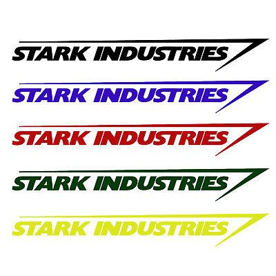 Iron Man Decal (Stark Industries Sticker Vinyl Decal - Marvel Iron Man Avengers Car)