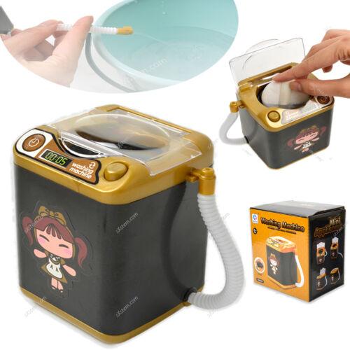 Mini Waschmaschine Haushaltsgeräte Schwarz Kinder Küche Spielzeug Set Kunststoff