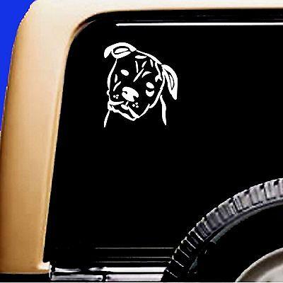 American Bulldog Dog Vinyl Car Decal RV Sticker - Original Design