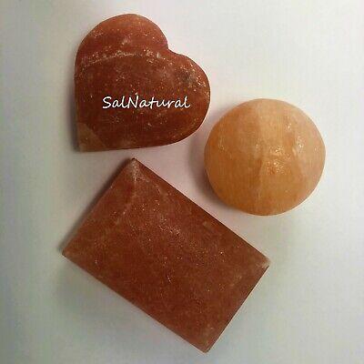Salz Massage (SalNatural© Salz Wellness & Peeling set 1x Massagekugel 1x Salzseife 1x Salzherz)