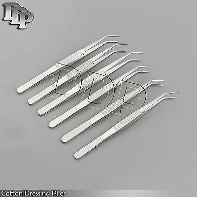 6 Pcs 6 College Tweezers Cotton Dressing Pliers Dental Surgical
