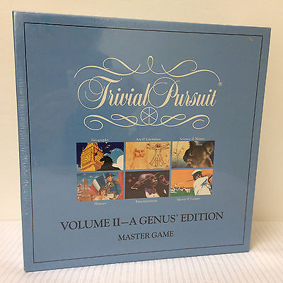 New 1989 Factory Sealed Trivial Pursuit Master Game Volume Ii  A Genus Edition