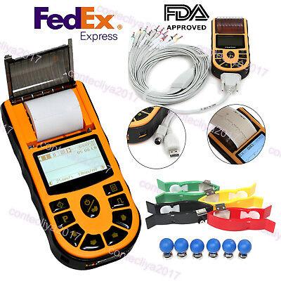 Usa Digital 1 Channel Electrocardiograph Handheld Ecg Ekg Machine Usb Software