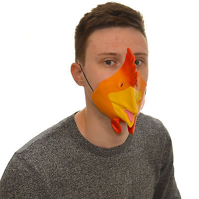 Funny Dress For Kids (Half Face Chicken Funny Fancy Dress Latex Mask For Kids & Adults)