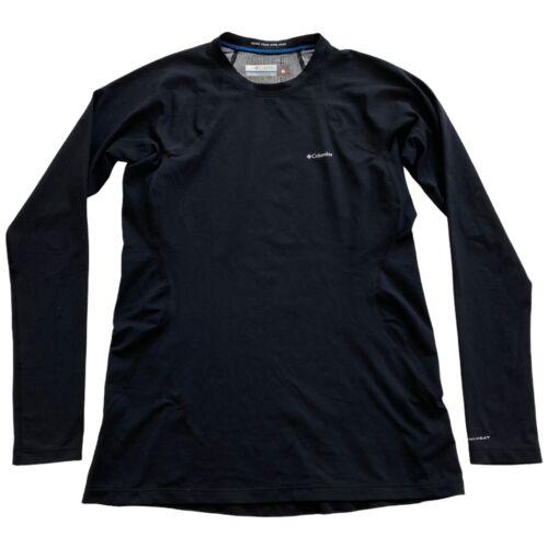 Columbia Midweight Omni-Heat Black Long Sleeve Base Layer Shirt Womens Large L
