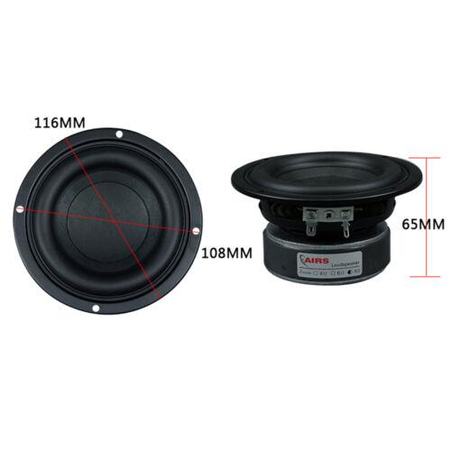 """4Ω 4"""" Inch 40-100W Subwoofer Woofer High Power Long Stroke Speaker Loudspeaker"""