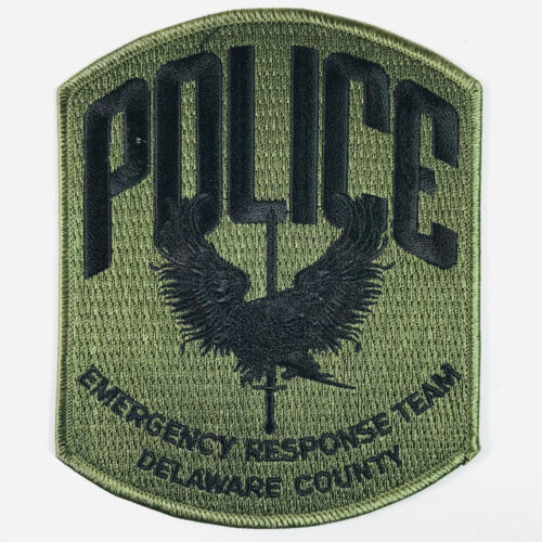 Delaware County Police Emergency Response Team Pennsylvania SWAT Patch (A5)