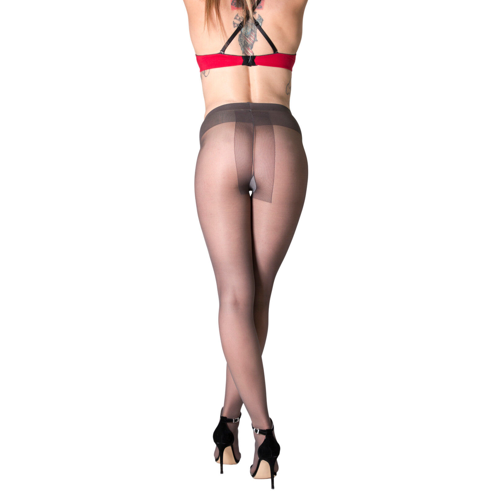 Matured irregular sheer energy pantyhose flie