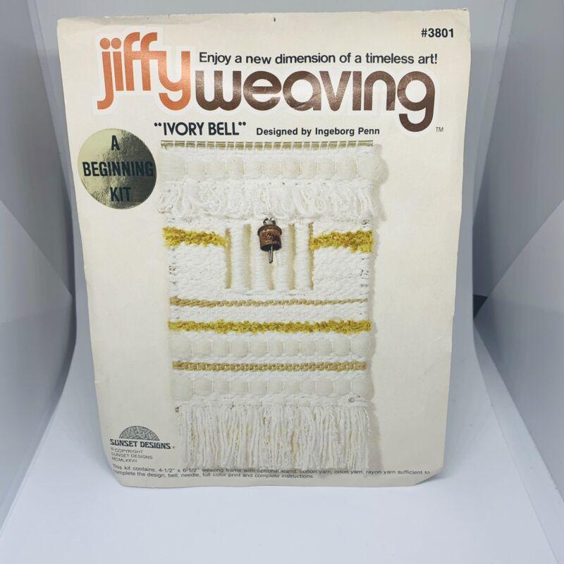 Vtg Jiffy Weaving Kit Ivory Bell A Beginning Kit Designed By Ingeborg Penn
