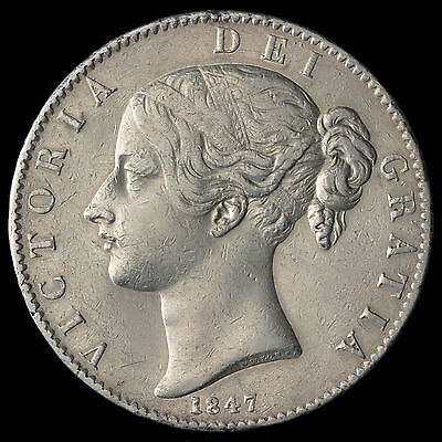 1847 Queen Victoria Young Head XI Cinquefoil Crown – VF