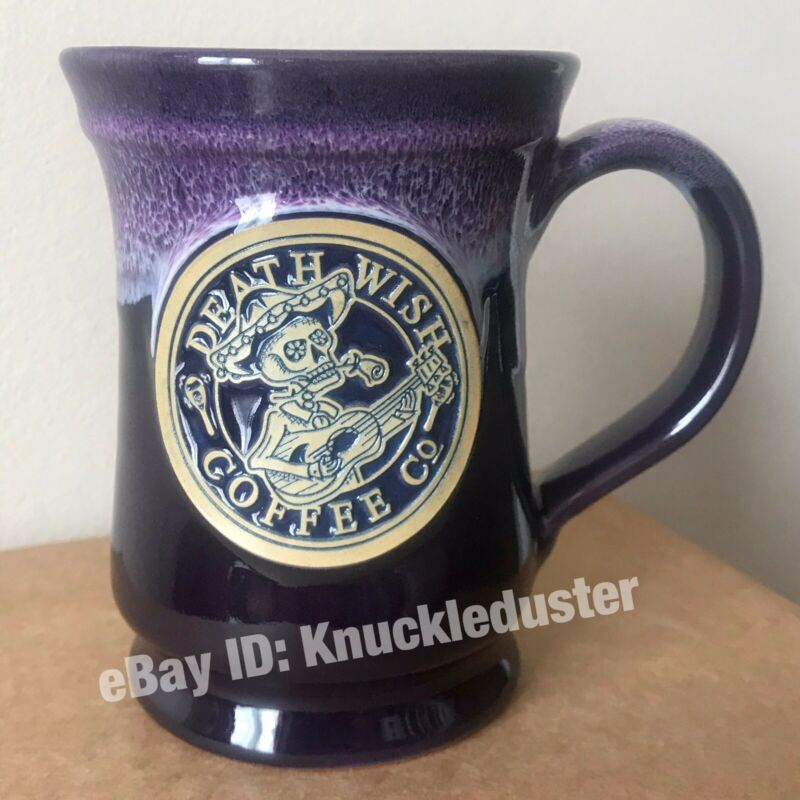 #2712 Death Wish Coffee Day Dead Mariachi Guitar Dia los Muertos Mug Deneen 2016