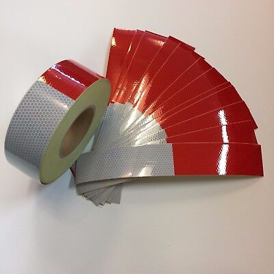 """CONSPICUITY TAPE 2"""" X 10 PCS 6' X 6' DOT-C2 REFLECTIVE SAFETY TRUCK TRAILER"""
