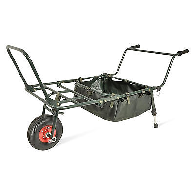 ABODE® Carp Fishing Folding Wheel Barrow XL Trolley Porter & Tidy