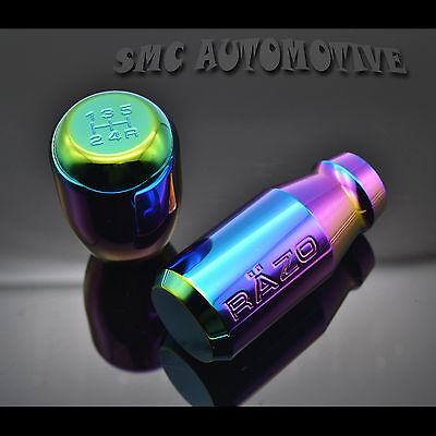 Shifter Knob Rainbow Universal 5 6 Speed Manual Car Gear Lever Stick Aluminum
