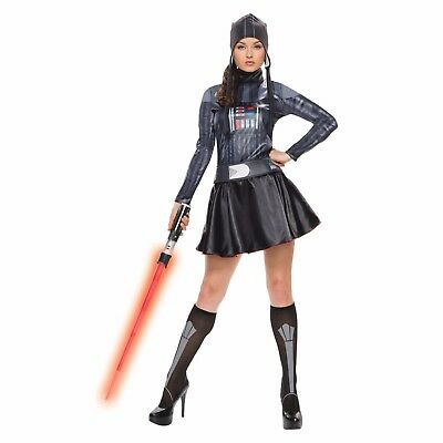 NEW Women's Adult Star Wars Rubies Darth Vader Dress Halloween Costume Small
